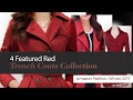 4 Featured Red Trench Coats Collection Amazon Fashion, Winter 2017