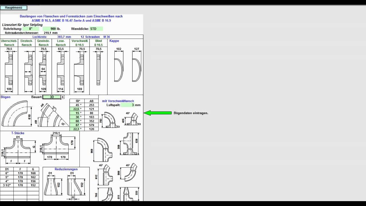 software rohrleitungsbau expert nach asme youtube. Black Bedroom Furniture Sets. Home Design Ideas
