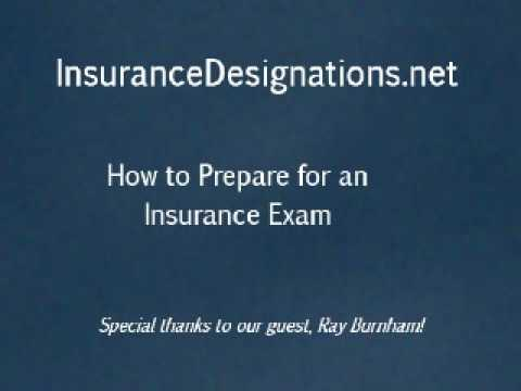 How to Prepare for a CPCU, ChFC, CLU, CASL, CIC, etc Insurance Exam.