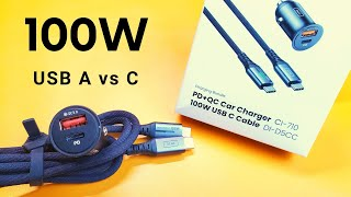 Are USB-C car chargers faster then USB-A?