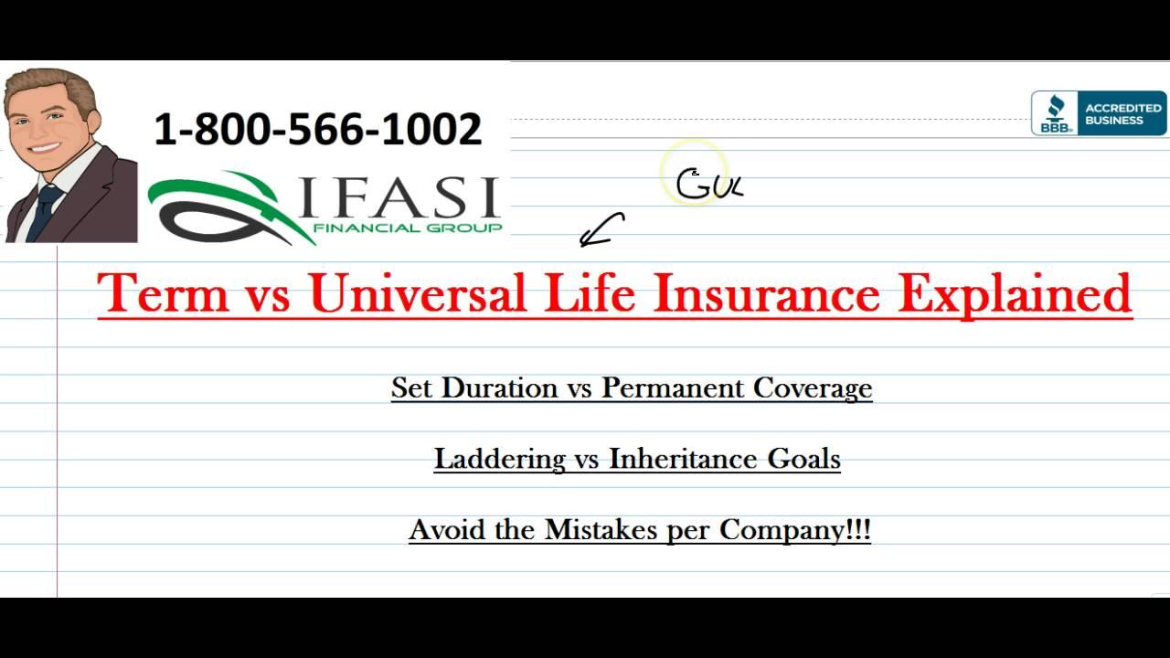 Term vs Universal Life Insurance - Term Vs Universal Life ...