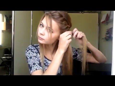 Прическа с косами своими руками за 5 минут.Прическа на выпускной.Hair tutorial