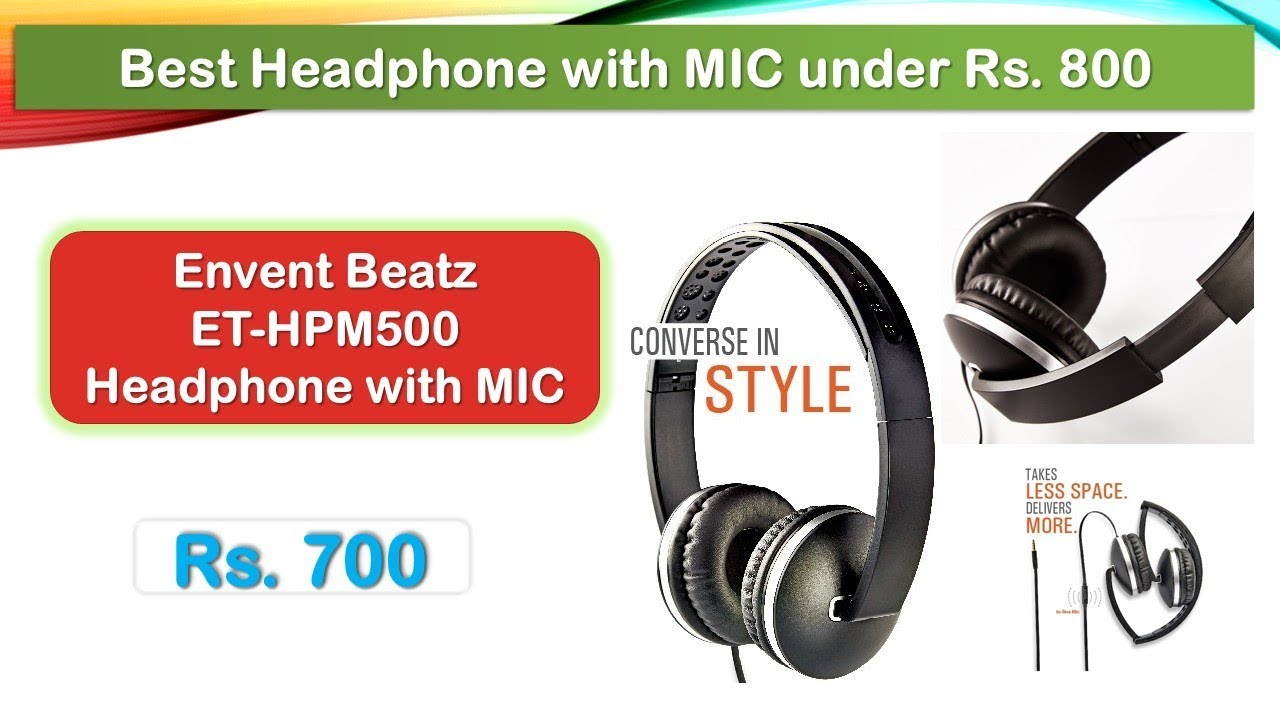 ba15ca1647c Envent LiveFun 550 Wireless Bluetooth Headphones with Mic - Black
