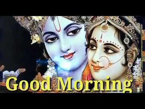 Good Morning video... Radhe Krishna bhajan.. Whisheshes quotes messages whatsapp status video