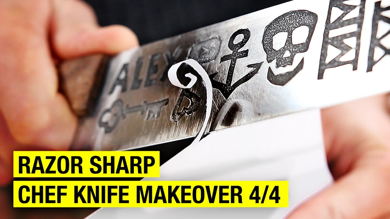 how to sharpen kitchen knives at home how to sharpen a chef knife chef knife makeover 4 4 27829