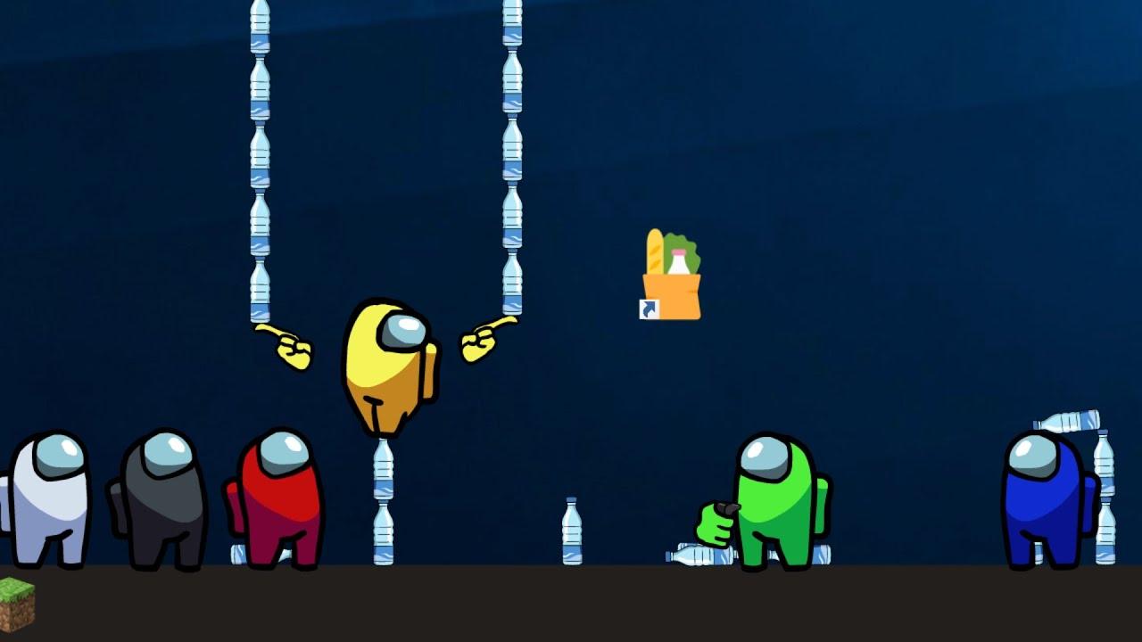 Among Us vs Minecraft Bottle Flip Challenge - Animation EP4