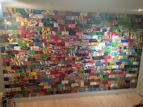 Recycled Skateboard Wall Art