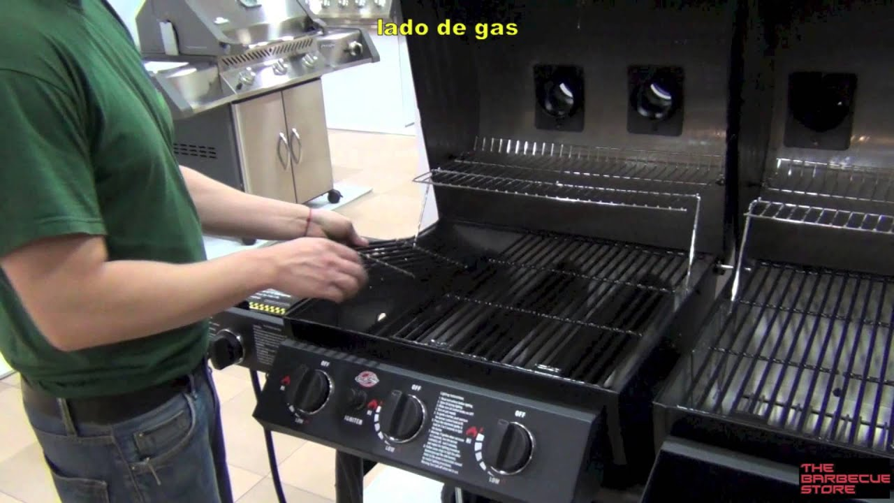 Barbacoa Duo de gas y de carbn Chargriller  YouTube
