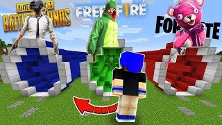DON'T CHOOSE THE WRONG TUNNEL IN MINECRAFT!! (FREE FIRE, PUBG, FORTNITE)