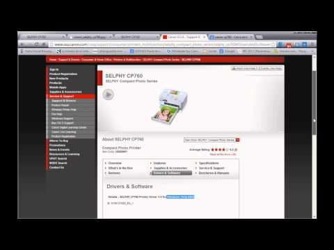 Canon Selphy CP760 - How To Install On Windows 8 64bit ( CP510 CP640 CP740 CP780 )