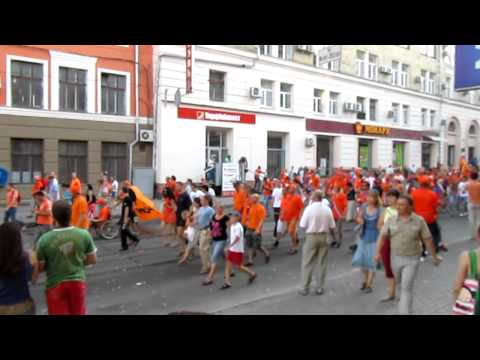 Holland fans in Kharkov (Euro2012). Trip to stadium on game Holland - Germany.