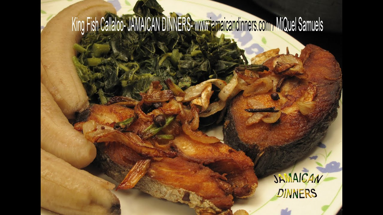 Sliced king fish callaloo without gravy dinner idea for King fish recipe