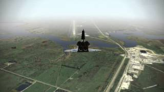 Fsim Space Shuttle Landing Runway 33 Full Approach 279 Degrees