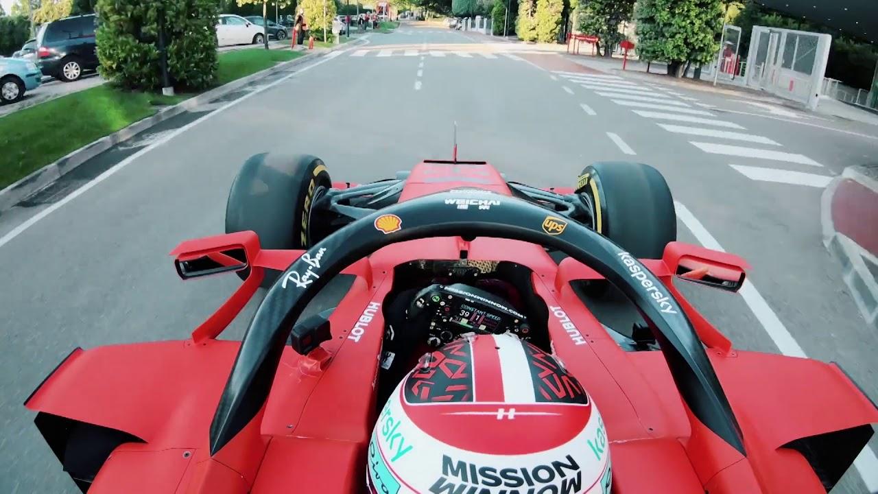 シャルル・ルクレール、本拠マラネロからフィオラノまでの公道をフェラーリ2020年型F1マシン「SF1000」で爆走