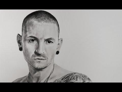 Dibujo en Memoria de Chester Bennington | Vocalista de Linkin Park