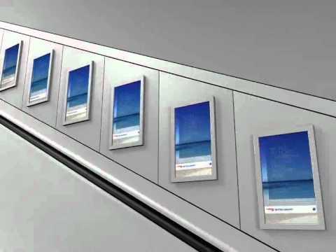 Ba Caribbean Digital Escalator Panels In London Tube Stations
