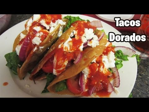 How to make Tacos Dorados (Mexican Dish) - YouTube