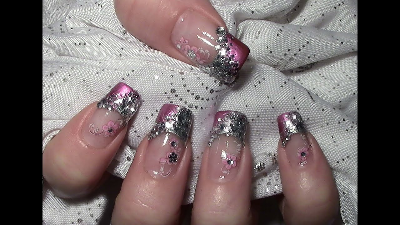 metallic glitter nageldesign mit water nail tattoos zum selber machen tutorial n gel lackieren. Black Bedroom Furniture Sets. Home Design Ideas