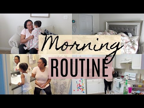 MORNING ROUTINE | STAY AT HOME MOM | Destiny's Life