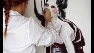 Speed painting - Geisha abstract