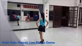 Hula Hula Hawaii Line Dance - Demo