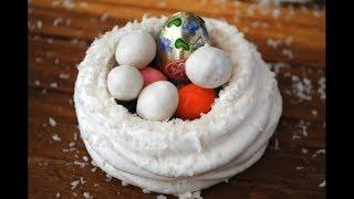 ПАСХАЛЬНЫЕ ГНЁЗДА. Десерт На Пасху. Сладкие Пасхальные Яйца.