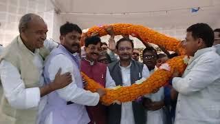 जन संपर्क अभियान के तहत समस्तीपुर पहुँचे कांग्रेस के प्रदेश अध्यक्ष मदन मोहन झा पुष्पमाला से स्वागत