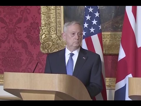 Defense Secretary Mattis Takes Aim At Russia, North Korea - Full London News Conference