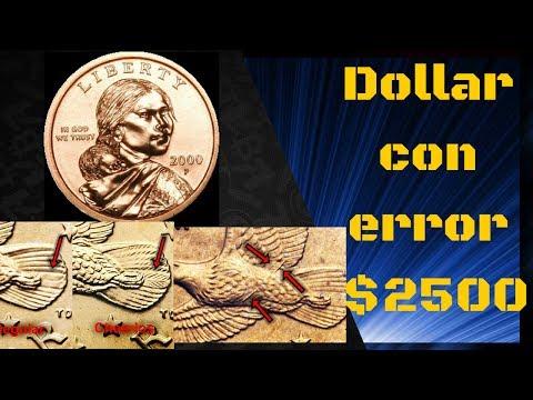 $2500 dolares por un sacagawea dollar ( 2000 P Error)