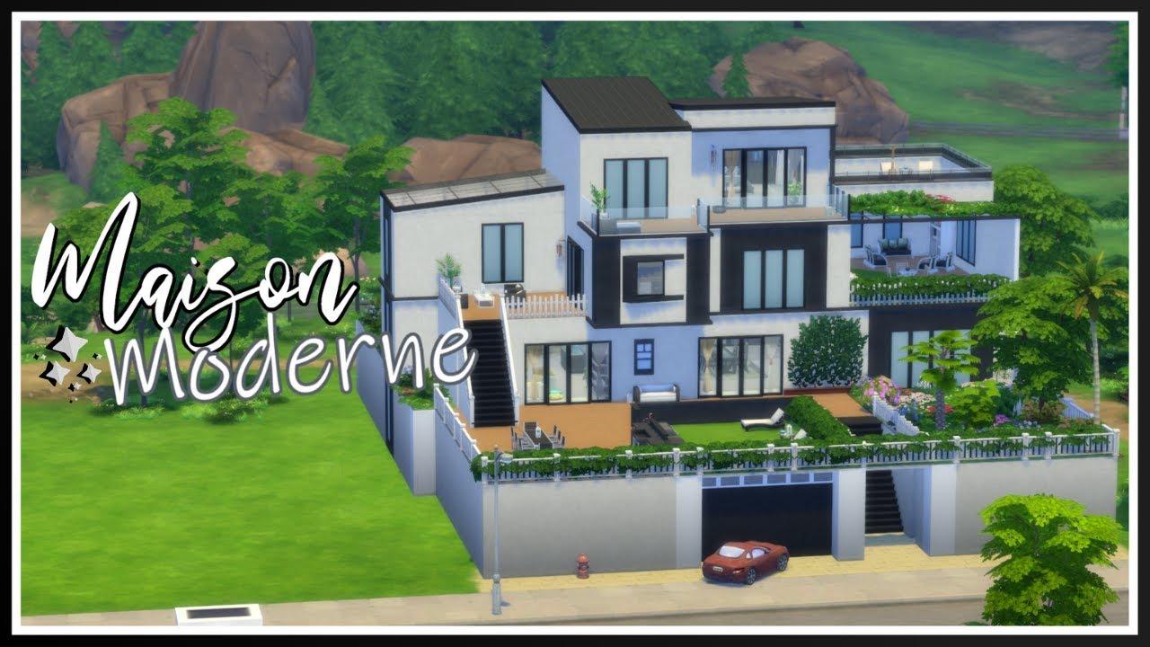 ゚ Maison Moderne || Speed Build Sims 4 - YouTube