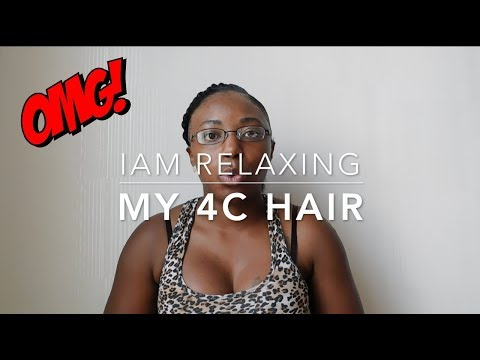 I Relaxed My 4C Hair!
