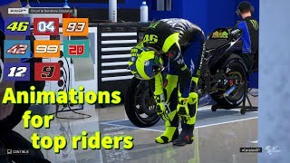 MotoGP 19 | BOX and GRID Animations | MotoGP TOP Riders