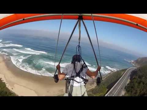 Hang gliding High flight 2 - Map of Africa Wilderness RSA