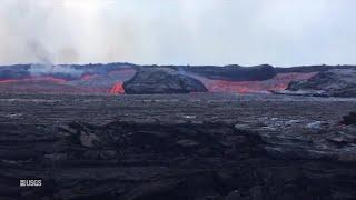 Hawaii volcano: Lava rapids helicopter footage (USGS June 19, 2018)
