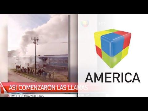 Terror en las vías: Se incendió una formación del San Martín