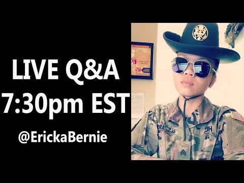 LIVE | With Army Drill Sergeant Ericka Bernie! (For real this time)