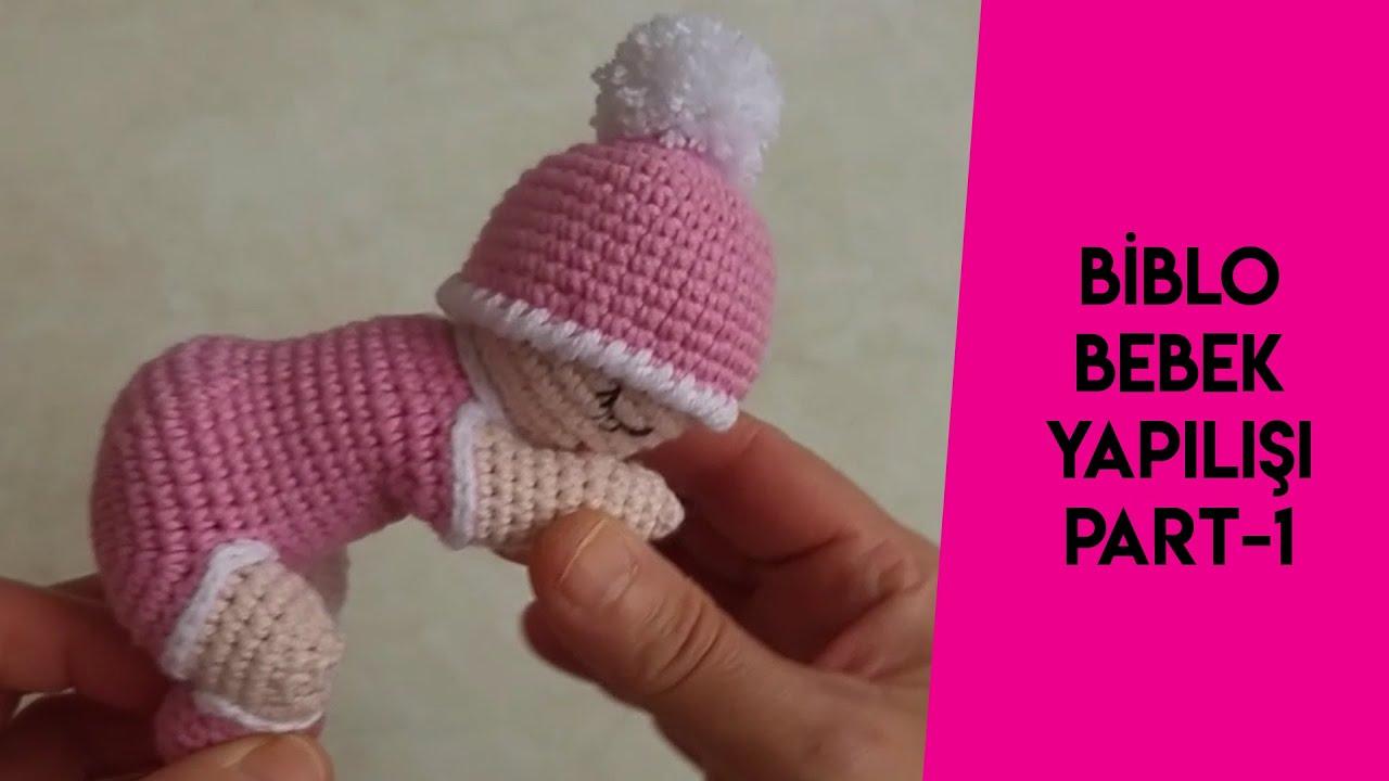 #örgübebek  #biblobebek  Amigurumi minik biblo bebek yapılışı PART1 (How to make a small knit doll )