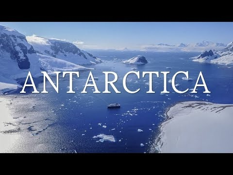 BEAUTIFUL ANTARCTICA (Land of Ice) AERIAL DRONE 4K VIDEO!