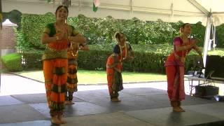 Dance in the Bharata Natyam style praising Devi Saraswathi