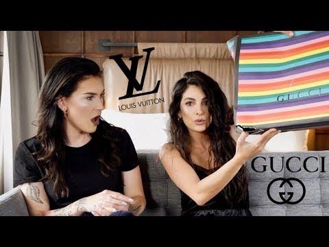 Designer Unboxing Met Anna Nooshin!! | GUCCI, LV | JessieMaya