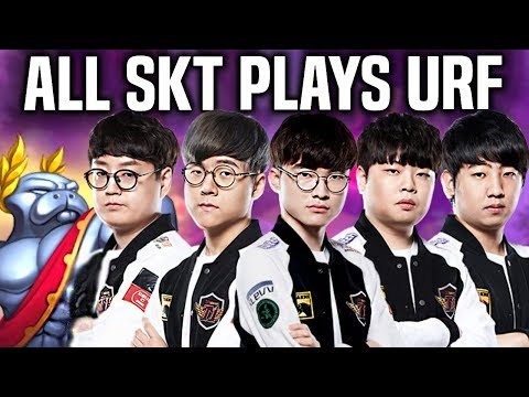 ALL SKT T1 TEAM PLAYS URF! *FAKER TEDDY MATA KHAN CLID* - 5 SKT Members Playing URF