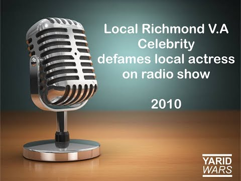 From the Archive - Local V.A Celebrity defames local actor on radio