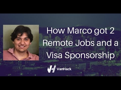 How Marco got 2 Remote Jobs and a Visa Sponsorship