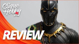 BLACK PANTHER TOY FAIR HOT TOYS 1/6 - Pantera Negra Exclusive Action Figure - REVIEW