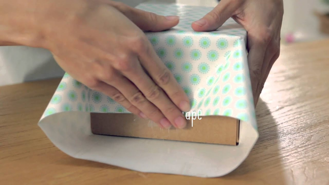 How to Wrap a Box With a Square End