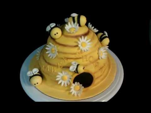 Bumble Bee Hive Baby Shower Cake
