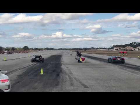 600-hp Ariel Atom Vs. Lamborghini Aventador Airport Race