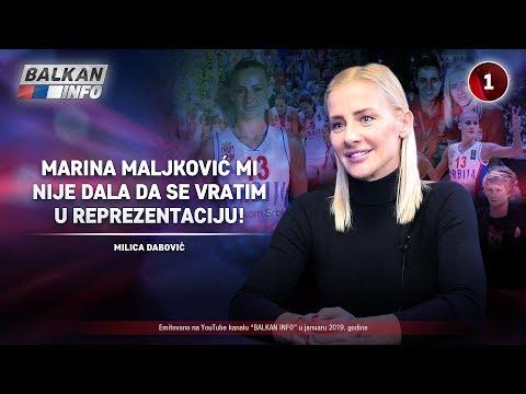 INTERVJU: Milica Dabović - Marina Maljković mi nije dala da se vratim u reprezentaciju! (11.1.2019)