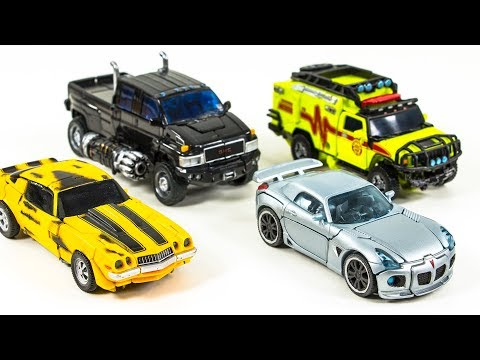 Transformers Movie Autobots Deluxe Class Bumblebee Jazz Ironhide Ratchet Vehicle Car Robot Toys