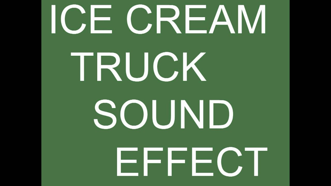 Ice cream truck sound effect - YouTube